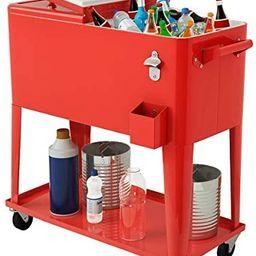 Giantex 80-Quart Cooler Beer Cart Outdoor Entertaining Rolling Party Steel Bar Bistro Beverage Co...   Amazon (US)