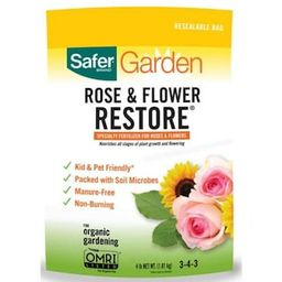 Safer Brand Restore 4 lbs. Organic Dry Rose and Flower Plant Dry Fertilizer 3-4-0 (1-Pack)-94RF -... | The Home Depot