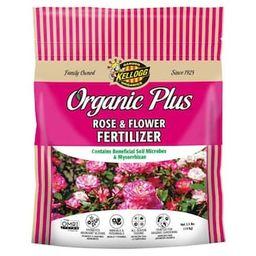 Kellogg Garden Organics 3.5 lb. Organic Rose and Flower Fertilizer-3003 - The Home Depot | The Home Depot