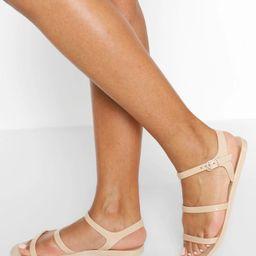 3 Strap Jelly Sandals | Boohoo.com (US & CA)