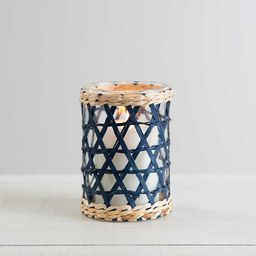 New!Glass Votive with Blue Wrap, 6 in.   Kirkland's Home