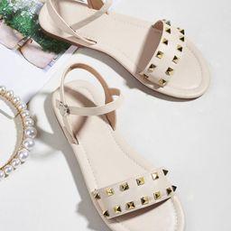 Studded Decor Ankle Strap Sandals | SHEIN