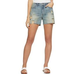 Scoop Destructed Retro Boyfriend Jean Shorts Women's | Walmart (US)