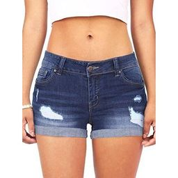 Ripped Denim Shorts Women Casual Jeans Summer Pants | Walmart (US)