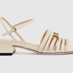Women's leather sandal with Horsebit   Gucci (US)