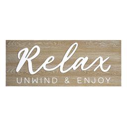 New View Gifts & Accessories Relax Raised Word Wall Decor | Kohl's