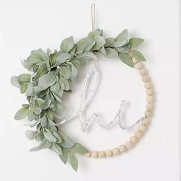 Hi Wreath Lambs Ear Wreath For Front Door | Etsy (US)