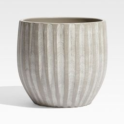 Mae Tall Cement Indoor/Outdoor Planter + Reviews | Crate and Barrel | Crate & Barrel
