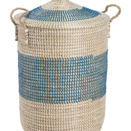 Large Striped Round Hamper With Rope Handles | TJ Maxx