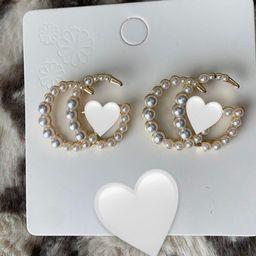 "Gabriella earrings"" g earrings ,handmade ,pearl earrings ,stud earrings ,designer earrings   Etsy (US)"