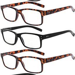 Eyekepper Vintage Mens Reading Glasses-5 Pack(3 Pairs Black and 2 Pairs Tortoise) Glasses for Men... | Amazon (US)