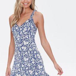 Floral Print Ruffled Mini Dress | Forever 21 (US)