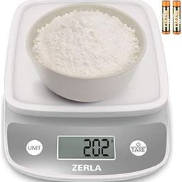 Digital Kitchen Scale by ZERLA, Multifunction Food Scale with Range from 0.04oz to 11lbs, White   Amazon (US)