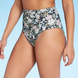 Women's Sweet Meadows Ditsy High Waist Bikini Bottom - Kona Sol™ Multi   Target