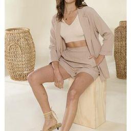Lorelei Two piece Blazer Set in Tan $64 | Indigo Closet