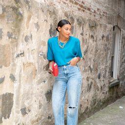 Vintage Blue Blouse | Etsy | Etsy (US)