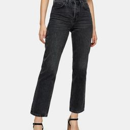 Topshop editor straight leg jeans in washed black   ASOS (Global)