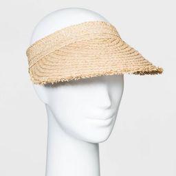 Women's Straw Visor Hats - Universal Thread™ Natural One Size | Target