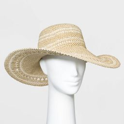 Women's Crocheted Floppy Hats - A New Day™ Natural One Size | Target
