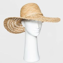Women's Open Weave Raffia Straw Paper Hat - A New Day™ Natural | Target