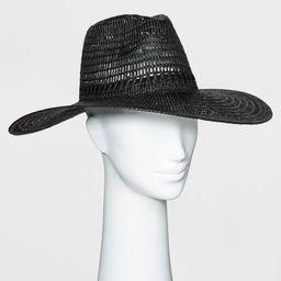 Women's Wide Brim Open Weave Straw Panama Hat - Universal Thread™ | Target