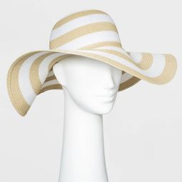 Women's Packable Essential Striped Straw Floppy Hat - A New Day™ One Size | Target