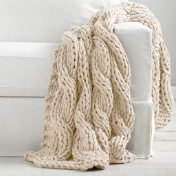 Colossal Handknit Throws   Pottery Barn (US)