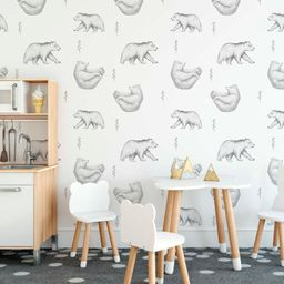 Yoga bears wallpaper peel and stick nursery wall decor | Etsy | Etsy (US)