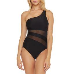 BCA By Rebecca Virtue Women's Lara One Shoulder Mesh One Piece Swimsuit | Walmart (US)