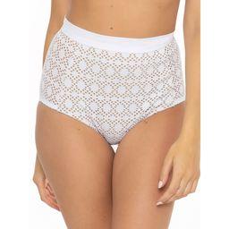BCA By Rebecca Virtue Women's Crochet Piper Retro High Waist Bikini Bottom | Walmart (US)