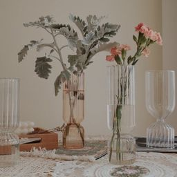 Unique Champagne Color Glass Vase/ Decorative Clear Glass | Etsy | Etsy (CAD)