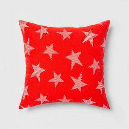 Indoor/Outdoor Striped Stars Throw Pillow Red/White - Sun Squad™ | Target