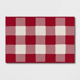 2'x3' Indoor/Outdoor Buffalo Check Scatter Red - Sun Squad™ | Target