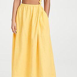 Yellow Open Waist Dress | Shopbop