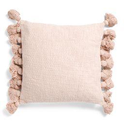 20x20 Textured Tassel Pillow | TJ Maxx