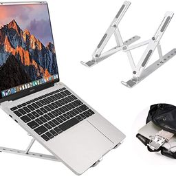 Coomaxx Portable laptop stand, Aluminum Foldable Holder, 6 levels Height & Angle Adjustable,Mac...   Amazon (US)