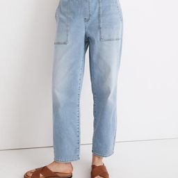 Petite Pull-On Relaxed Jeans in Bellview Wash   Madewell