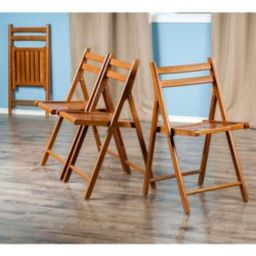Red Barrel Studio® Quiana Wood 4 Piece Folding Chair Set   Wayfair North America