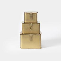 Square Metal Boxes S/3 | Amber Interiors