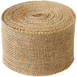 """LaRibbons 3"""" Wide Burlap Fabric Craft Ribbon 10 Yards, 01 Tan   Amazon (US)"""