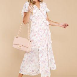 Sweeten The Occasion White Multi Print Dress | Red Dress