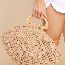 Dream In The Sand Light Tan Crochet Bag | Red Dress