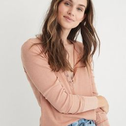 Aerie Ribbed Henley Long Sleeve T-Shirt   American Eagle Outfitters (US & CA)