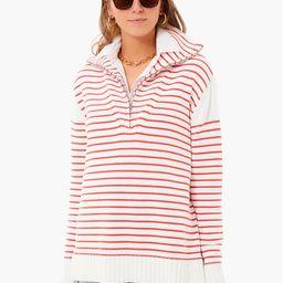 Red Stripe Quarter Zip Hartwell Sweater | Tuckernuck (US)