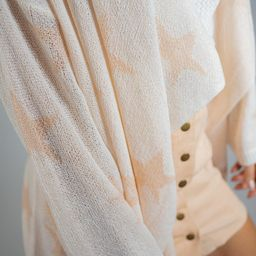 Starry Nights Cardigan Sweater - White | Three Bird Nest