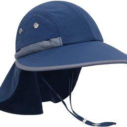 Toddler Sun Hat for Kids Baby Beach Sun Protection UPF 50 Boys Girls Fishing Hats | Amazon (US)