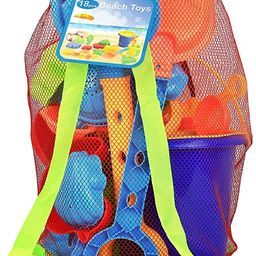 Click N Play 18Piece Beach Sand Toy Set, Bucket, Shovels, Rakes, Watering Can, Molds | Amazon (US)