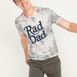 "Tie-Dye ""Rad Dad"" Graphic Tee for Men   Old Navy (US)"