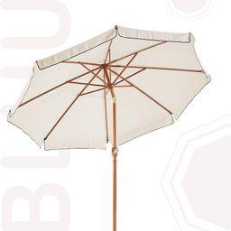 BLUU 9 FT Fringed Market Umbrella Aluminum Outdoor Patio Table Umbrellas with Tilt Aluminum Faux ... | Amazon (US)