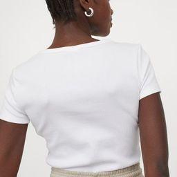 Ribbed Cotton T-shirt | H&M (US)